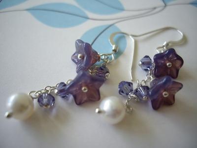 Violet dreams sterling silver earrings