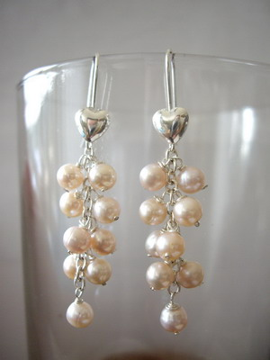 puff heart earrings
