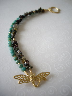dragon batterfly toggle bracelet