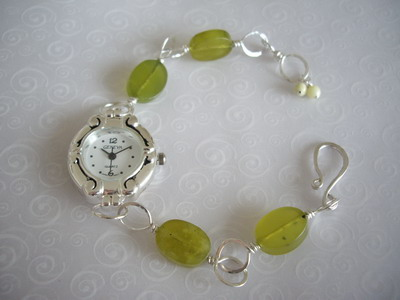 olive jade watch