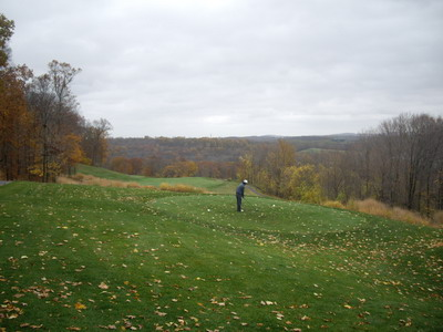 golf course on halloween day