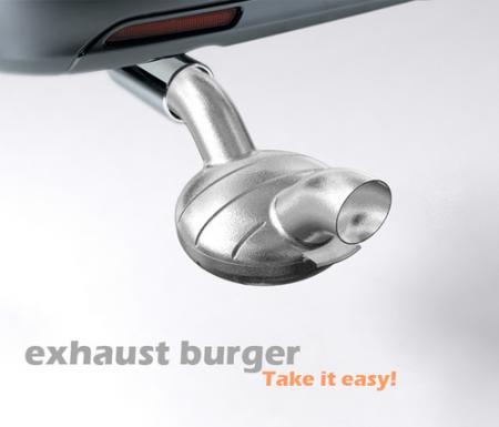 車の排気ガスで料理(肉を焼く、など)