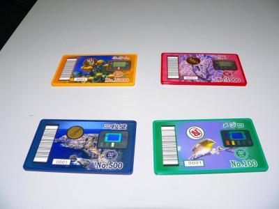 写真キャプション=新たに特殊景品として導入された「カード賞品」(100円、500円、1000円、5000円)