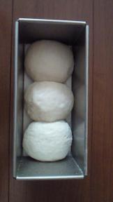 いちご酵母パン二次発酵前