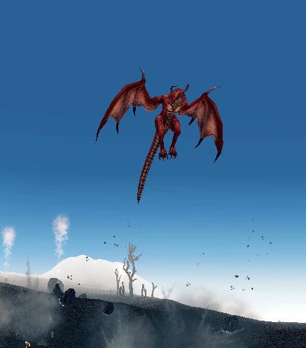 赤ドラさんが飛ぶ