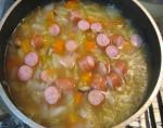 野菜スープ コトコト煮る