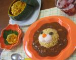 かぼちゃサラダ& ポン・デ・ライオン カレー