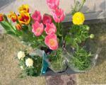 花を買いました。