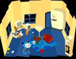 青いお部屋