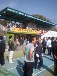 競技場にて 「豊橋ハーフマラソン」