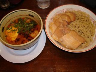 味噌つけ麺 ねぎ 豚