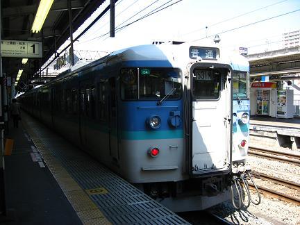 甲府駅にて