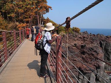 城ヶ崎の吊り橋にて