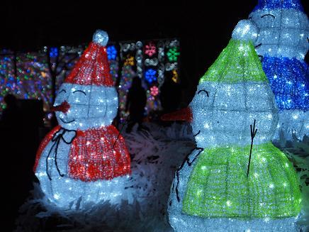 2011年のイルミ・雪だるま