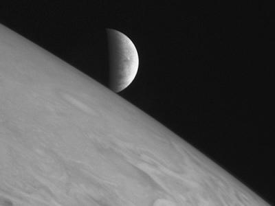 木星越しに現れるエウロパ
