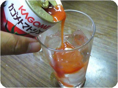 トマトジュース投入