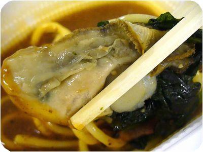 牡蠣とほうれん草炒め