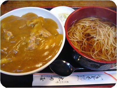 カレー丼セット(温そば)