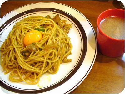 ジャワスパゲティー(カレー風味)