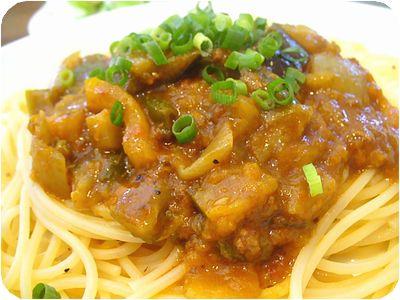 七福カレー麺 カポナータのミートソース
