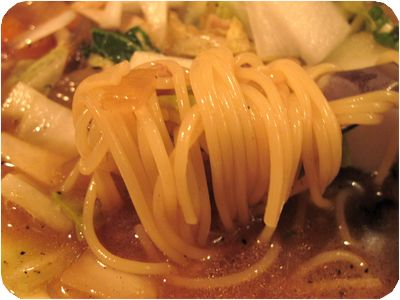 カレー風味スープスパゲッティ