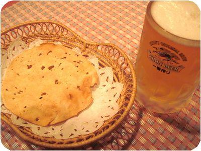 ビール&パパド