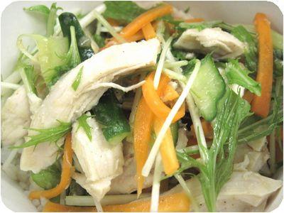 鶏肉と野菜のねぎ塩ダレ丼