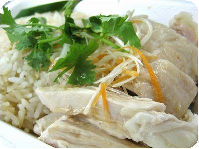 シンガポールチキンライスホワイト(蒸し鶏)