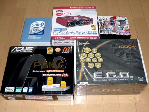 『Core 2 Quad Q6600』+『P5K-E』+『ANDY SAMURAI MASTER』+『ENHANCE E.G.O 1000W』+『FA-66』