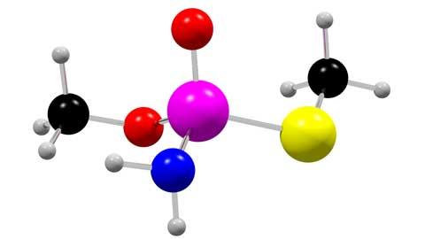 メタミドホス3D分子模型