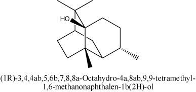 (1R)-3,4,4αβ,5,6β,7,8,8α-Octahydro-4α,8αβ,9,9-tetramethyl-1,6-methanonaphthalen-1β(2H)-ol