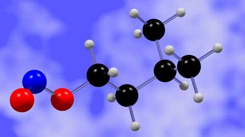 亜硝酸イソアミル3D分子模型