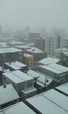 あっという間に雪