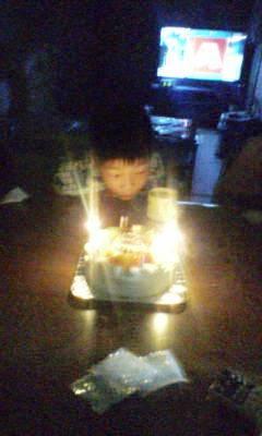 はるき7歳の誕生日4-ケーキフゥ