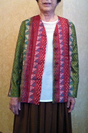 カンタ刺繍ジャケット