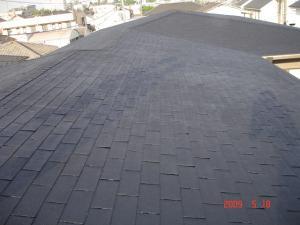 塗装前の屋根(アスファルトシングル)2