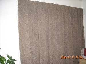 間仕切りカーテンを閉じています