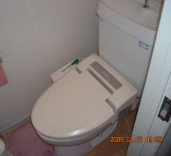 交換取付前のトイレです