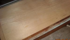 床板に合板張り