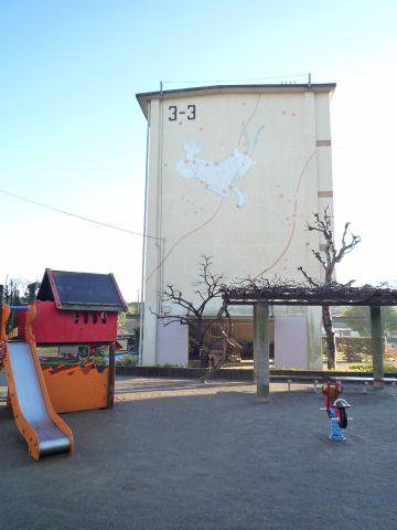 米本団地住棟壁画2