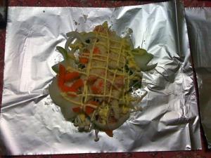 鮭のホイル包み焼き:下ごしらえ