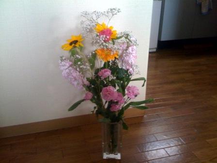 引退のお祝いの花束