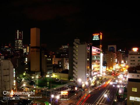 横浜市中区の長者町辺りの夜景