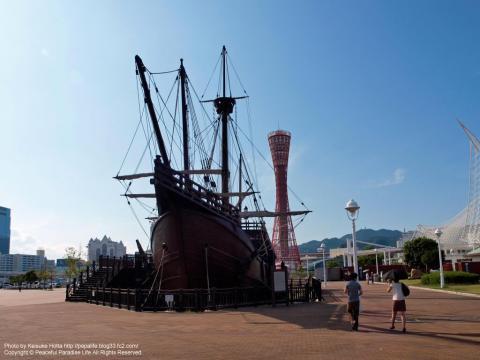 メリケンパークにある帆船