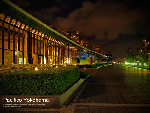 夜のパシフィコ横浜(Pacifico Yokohama)