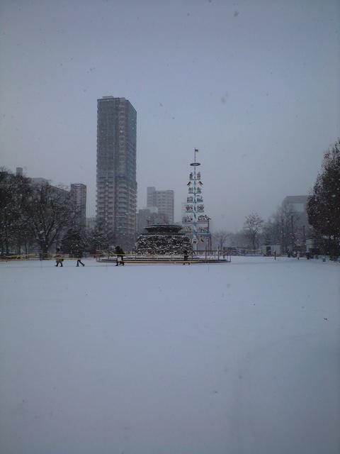 札幌は雪景色