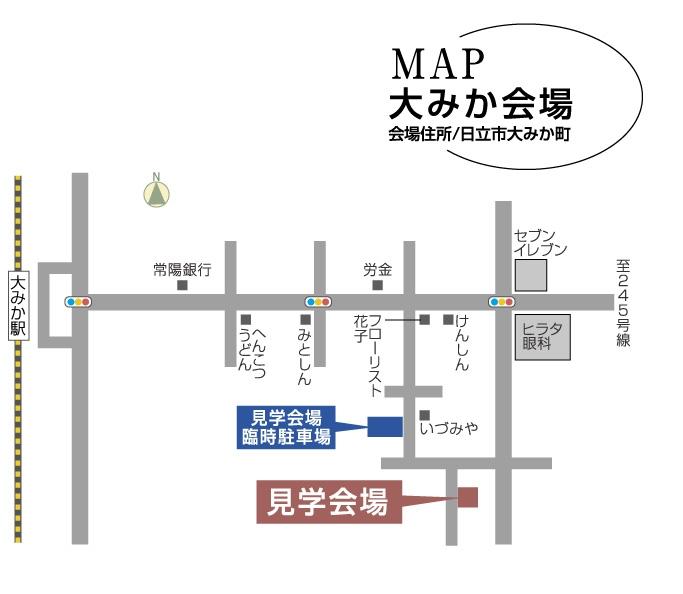 飯泉様邸地図