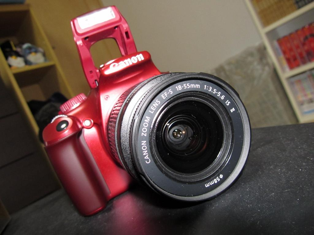 Canon デジタル一眼レフカメラ EOS Kiss X50 レッド こだわりスナップキット