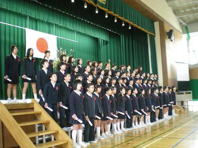 兼六中・杜の里小・田上小卒業式に出席