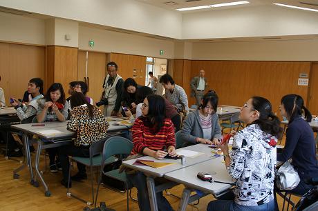 留学生折り紙創作に挑戦